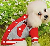pet fashion contratada camisa do basebol para animais de estimação cães (cores sortidas, tamanhos)