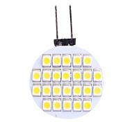 g4 1.5W 110lm 3500k 24x3528 warm witte LED lamp (DC 12V)