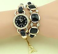 Women's Fashion Waterproof Crystal Weaving Bracelet Watch(Assorted Colors)