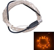Xinyuanyang® USB  6W 100-0603 SMD Yellow Light LED Strip Lamp - Silver (DC 5V / 1000cm)