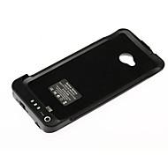 caso externo recargable de la batería para el htc uno / m7 (3800mah)
