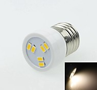 E27 2W 6LED 5730SMD 90-120LM 3000-3500K AC220-240V Spotlight Warm White - White Silver