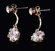 Z&X®  Fashion Joker High Grade Pentagram Zircon Earrings