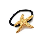 Golden Starfish Hair Lashing Hair Rubber Band