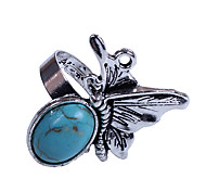 European Fly Women's Blue Turquoise Statement Rings(1 Pc)