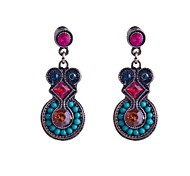 Lureme®National Style Colorful Jewel Earring