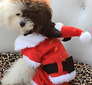Dog Hoodie Red Winter Christmas