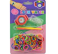 Loom Watches Super Funny Bands Kits Rainbow Color Loom 200 Bands and 12 S-clips 2 Tools