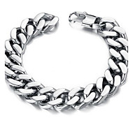 Z&X®  Men's Fashion Contracted Titanium Steel Thick Chain Bracelet