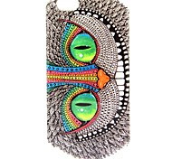 Green Eyes Of Owls Pattern TPU Soft Case for iPhone 6/6S