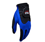 PGM Men's Left Hand Synthetic Leather+Lycra Blue Breathable Magic Golf Gloves-1 Piece