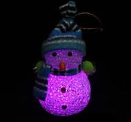 no chapéu nnd o cachecol do boneco de neve design de plástico luz da noite (1pcs)