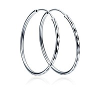 I FREE SILVER®Valentine's Day Gift S925 Silver Hoop Earrings 2 pcs (1 pair)
