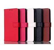Lichee Pattern PU Leather Case with Stand Holder  for Huawei Honor 6(Assorted Colors)