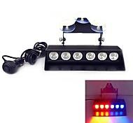 6 LED 3w чрезвычайное лобовое стекло стробоскоп световая машина для укладки световая (опционные цветы)