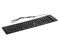 KN-109 Portable Waterproof Flexible Wired USB Keyboard