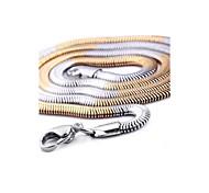 Men's Fashion Mixed Color Titanium Steel Chain Necklace