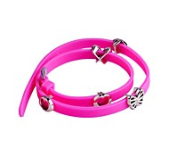Lureme Bowknot Heart Silicone Bracelet(Assorted Color)