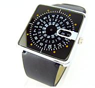 мужской женский проигрывателя специальное предложение уникальный дизайн кварцевый кожа наручные часы