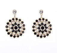 Stone Set Drop Earrings
