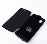 3800mAh caso pacco batterie esterno per Google Nexus 5 (nero)