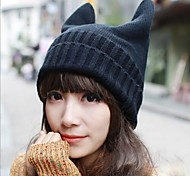 Women's  Fashion Personality Delicate Knitting Devil Hat