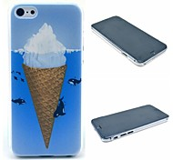 Ice Cream Dolphin Pattern Hard Case for iPhone 6 Plus