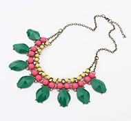Acrylic Sweet Flash Rhinestone Necklace