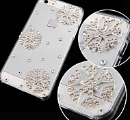 fiocco di neve con diamanti posteriore Case for iPhone 4 / 4s