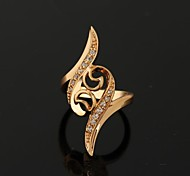 Women New Style Fashion Exquisite 18K Gold Plated Zircon Rings
