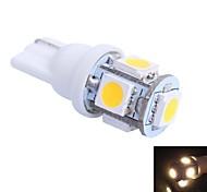 T10 1W 100LM 5×5050 SMD LED Color Light for Car Dashboard / Door / Trunk Lamps (DC 12V,, 1Pcs)