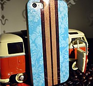 Toophone® JOYLAND Flash Powder TPU Two Sides Blue Flower Stripe Pattern Soft Back Case for iPhone 5/5S