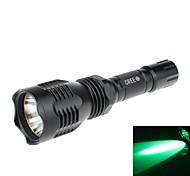 Zweihnder   Waterproof  1-Mode 1xCree XPE-R2 Green Light LED Flashlight (250LM,1x18650,Black)