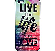 Live the Life You Love Pattern Hard Case for iPhone 5/5S