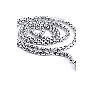 Z&X®  Men's Fashion  Personality Very Long The Circle Titanium Steel Necklaces