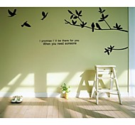 JiuBai™   Tree Branches And Birds Wall Sticker Wall Decal