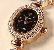 Women's  Fashion Luxury Gold-Plated Set Auger Bracelet Watch