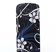 Flower Pattern Flip-open PU Leather Cover with Card Slot for iPhone 6