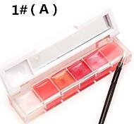 6-Farben rosa Lipgloss (sortierte Farbe 2)