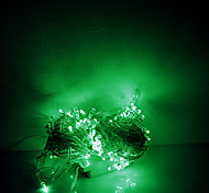 Luci stringa 10m 100 LED di Natale halloween luci decorative festive striscia luci-ordinarie verde (220v)