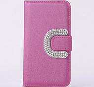 Fashion PU Leather Silk Print Diamond Full Body Case with Stand for Samsung Galaxy S5 I9600(Assorted Colors)
