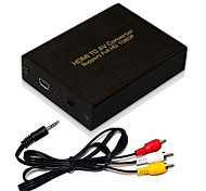 Full HD 1080P HDMI Input to Audio AV R/L CVBS Video Converter Box Adapter ,Brand New