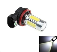 H11 16W  2xCree XP-E + 4xCOB LED 1500lm 6000k  White Light LED For Car Headlamp  (DC10~30V)