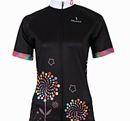 PALADIN Bike/Cycling Jersey / Tops Women's Short Sleeve Breathable / Ultraviolet Resistant / Quick Dry 100% Polyester Black / Sky BlueS /
