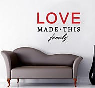 JiuBai™ Love Quote Home Decoration Wall Sticker Wall Decal, 44*65cm