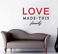 jiubai ™ cita del amor en casa decoración de la pared etiqueta de la pared calcomanía, 44 * 65cm