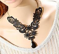 Black Vintage Necklaces Lace Wedding / Party Jewelry