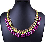 Vintage  (Gem) Gold Alloy Statement Necklace() (1 Pc)