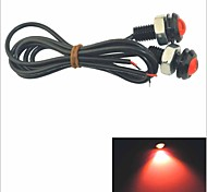 Carking™ 12V 1.5W 18MM Auto Car Eagle Eye Red Rear LED Light Day Time Running Lamp-Red Lens