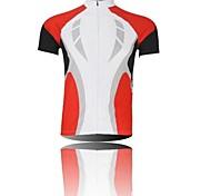 xintown Männer vertraglich atmungsaktivem Polyester kurze Hülse, die Jersey-rot + lila